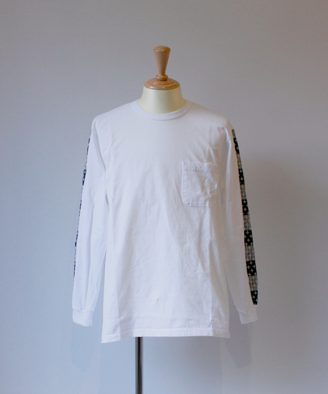 KUON LONG SLEEVE T SHIRT A : white