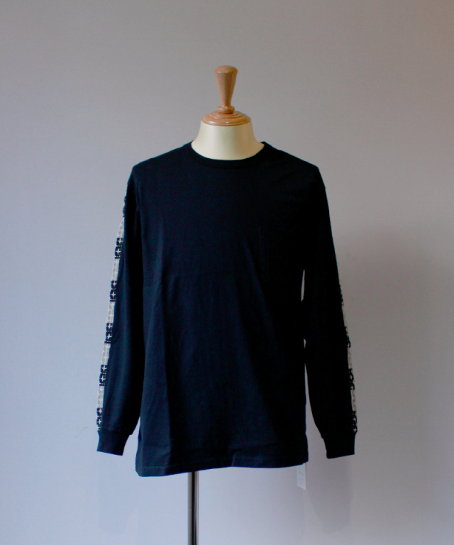 KUON LONG SLEEVE T SHIRT C : black