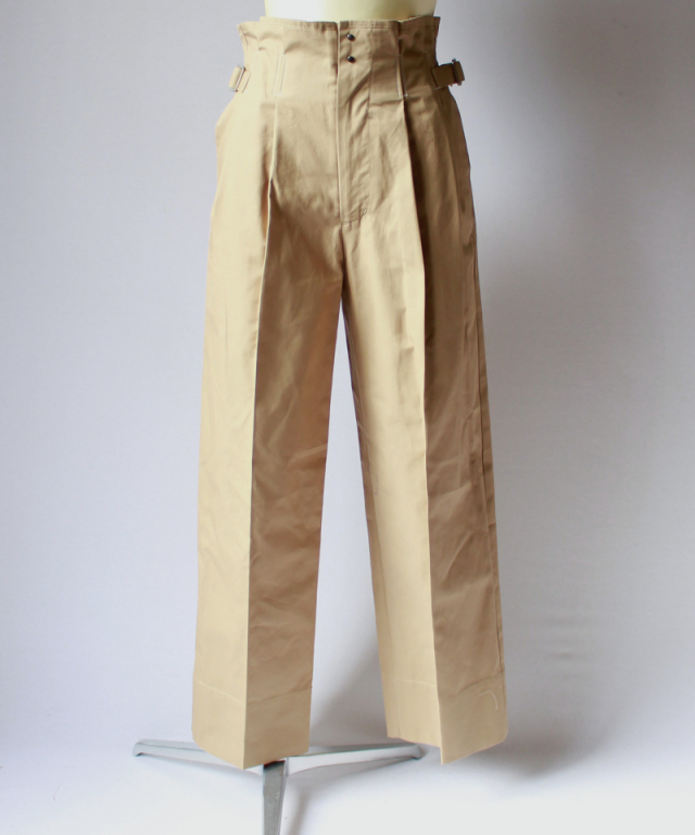 ponti 2TUCK PANTS beige