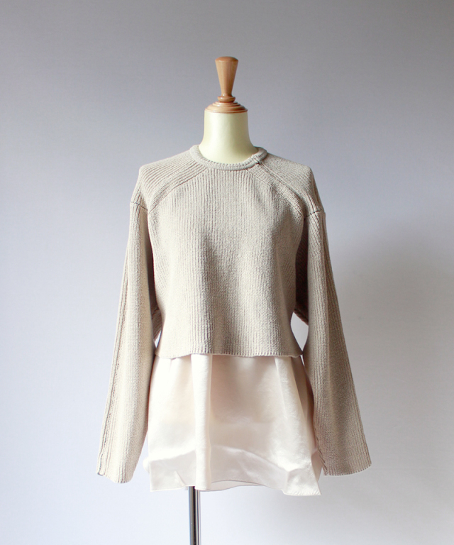 ponti LAYERED PO KNIT beige