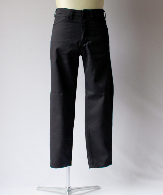 bukht SLIM TAPERED PANTS -KATSURAGI FAB- black