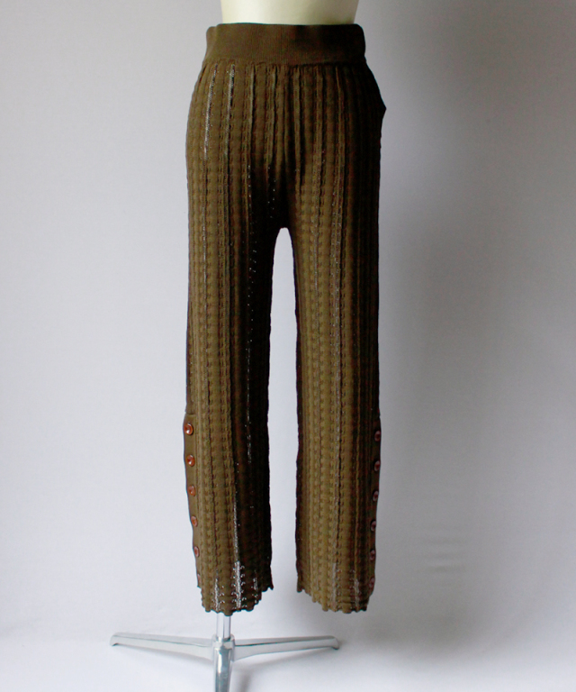 Uhr CROCHET KNIT PANTS olive