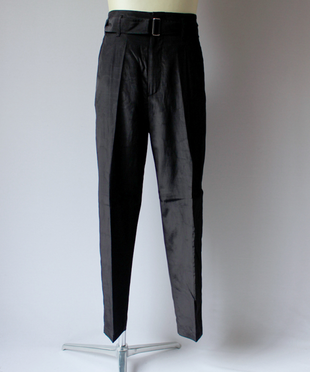 3.1 Phillip Lim CROPPED PLEATED TROUSER W TWIST BELT black