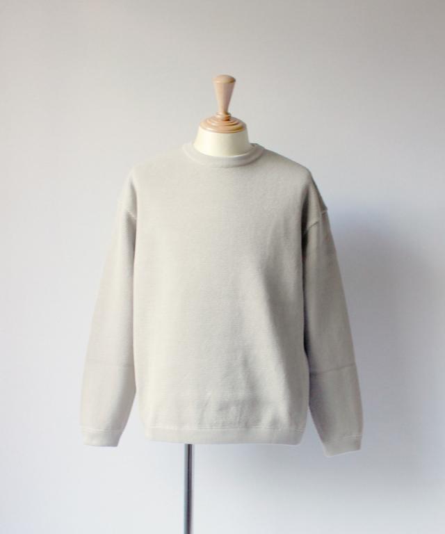 crepuscule MOSS STICH L/S SWEAT beige