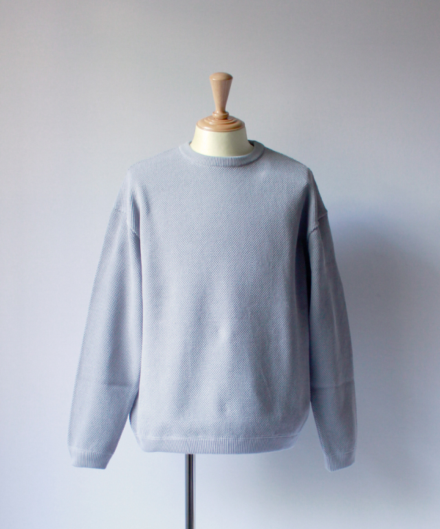 crepuscule MOSS STICH L/S SWEAT l.blue
