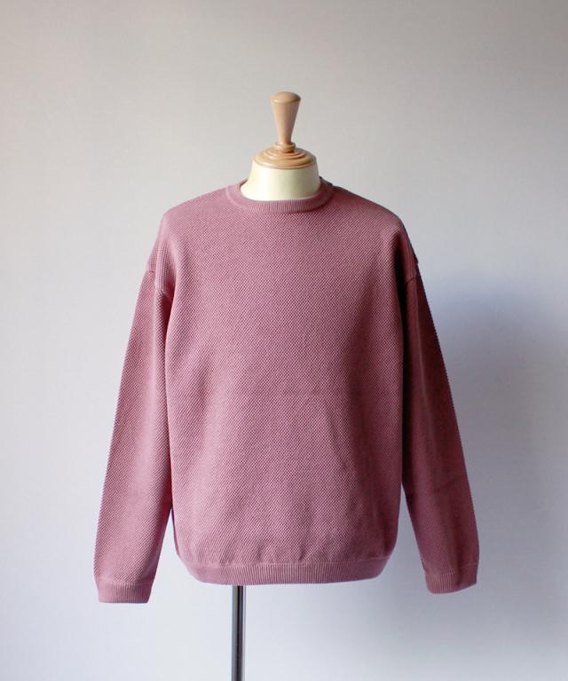 crepuscule MOSS STICH L/S SWEAT pink