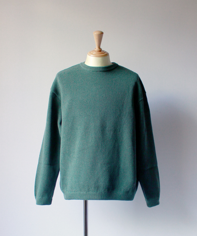 crepuscule MOSS STICH L/S SWEAT green