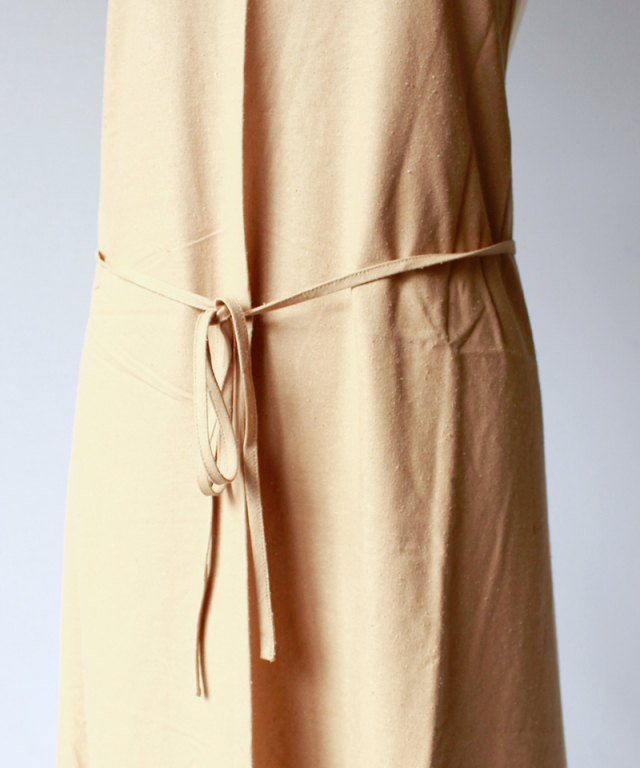 BASERANGE APRON DRESS bath brown