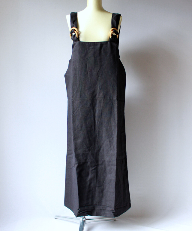 BASERANGE DUFFY OVERALL DRESS black