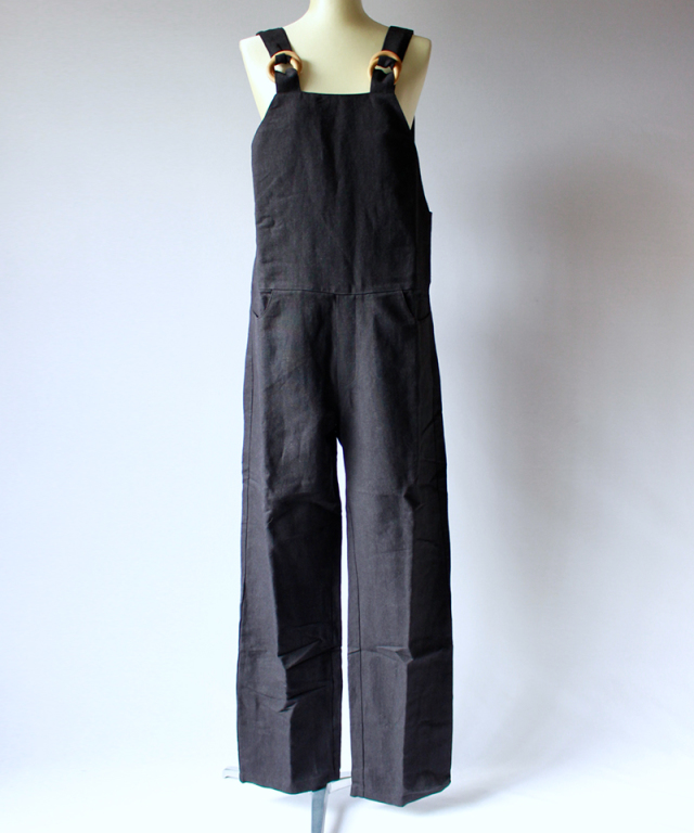 BASERANGE DUFFY OVERALL LONG JUMPSUITS black