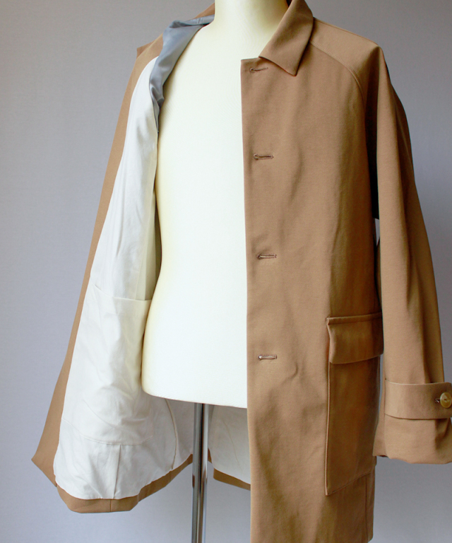 CURLY BRIGHT COAT beige