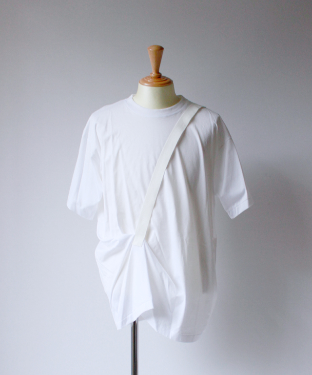 Chalayan STRAP LIFT SHIRT white