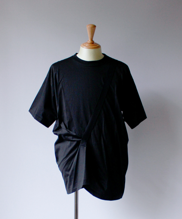 Chalayan STRAP LIFT SHIRT black