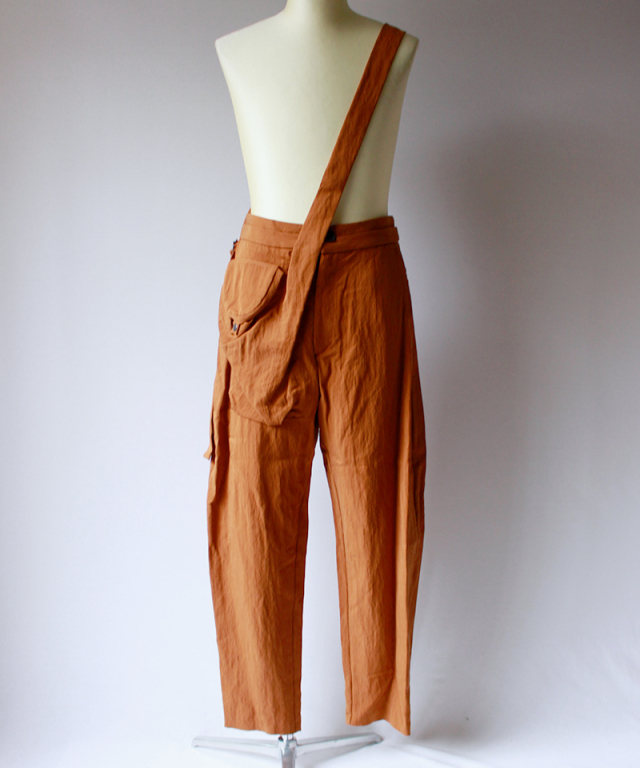 Chalayan SIDE POCKET TROUSER cinnamon