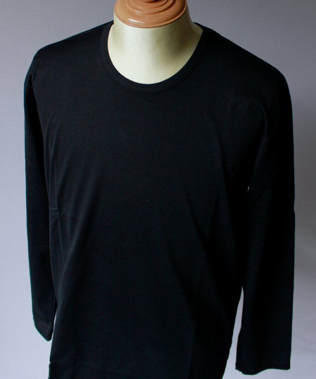 CURLY SDH LS CN TEE black