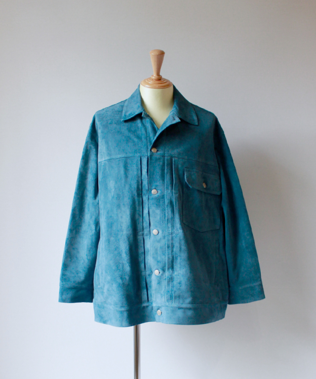 beautiful people SUEDE BIG BLOUSON blue