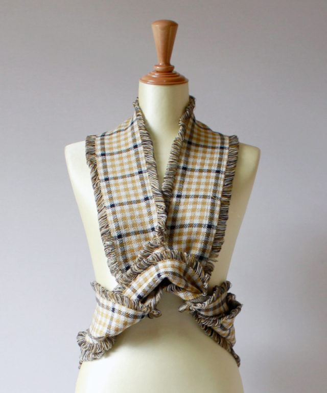 TAN CHECKERED HALTERNECK musterd