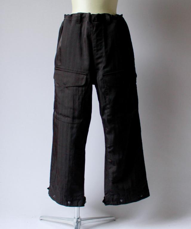 JUN MIKAMI ナイロンカーゴパンツ dark brown