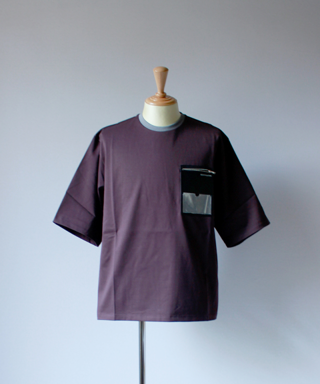 PORTVEL ID POCKET TEE 19SSver. burgundy