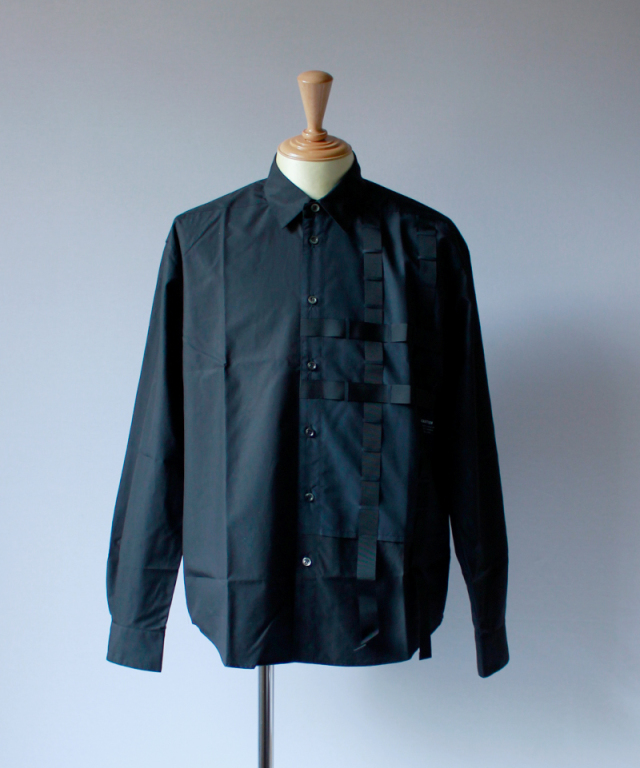PORTVEL PERFORATIONS SHIRT(SOLAR RAY) black