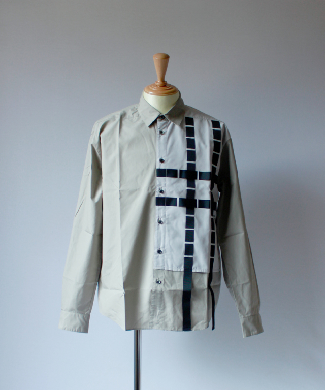 PORTVEL PERFORATIONS SHIRT(SOLAR RAY) greybeige