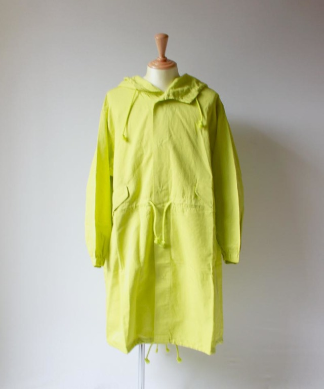 beautiful people COTTON RAMIE CLOTH MILITARY OVER COAT yellow