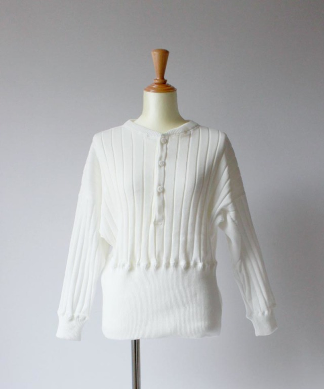 mmooii HENLEY NECK TOPS white