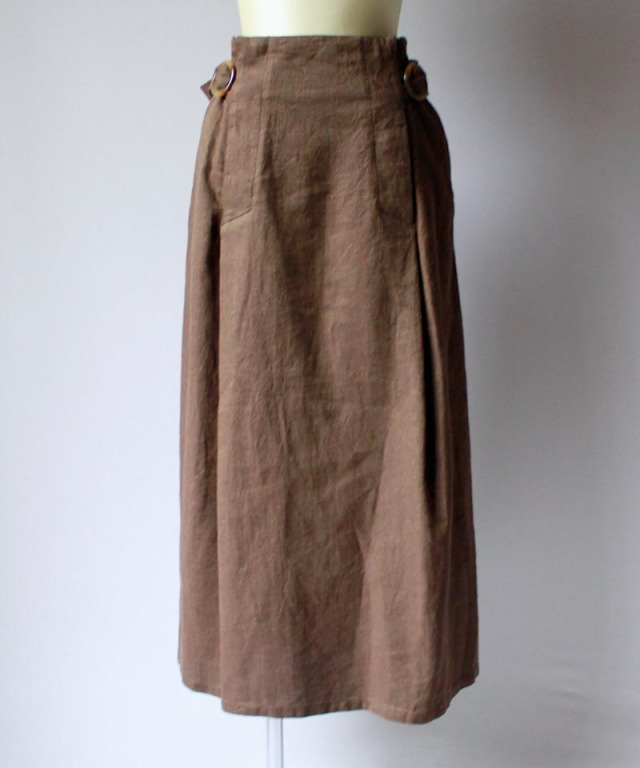 Uhr BUCKLED LONG SKIRT herringbone