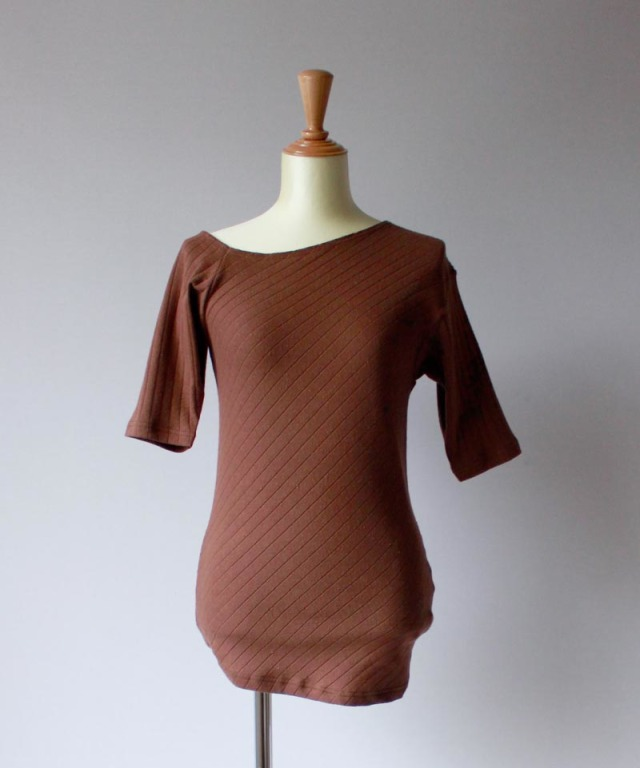 Uhr ASYMMETRY T-SHIRTS brown