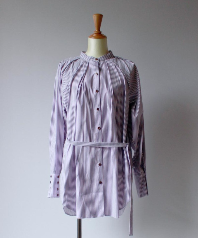 Uhr STRRIPED TUCK SHIRTS purple
