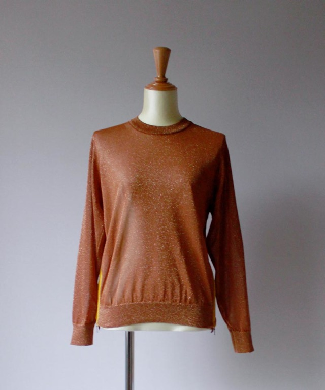 ponti SHINING PO KNIT dark orange