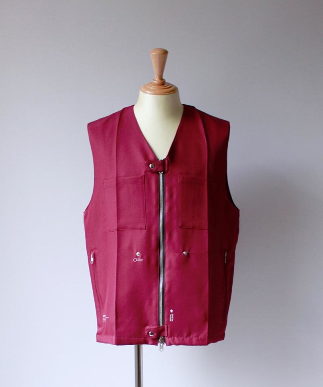 PORTVEL WORK VEST burgundy