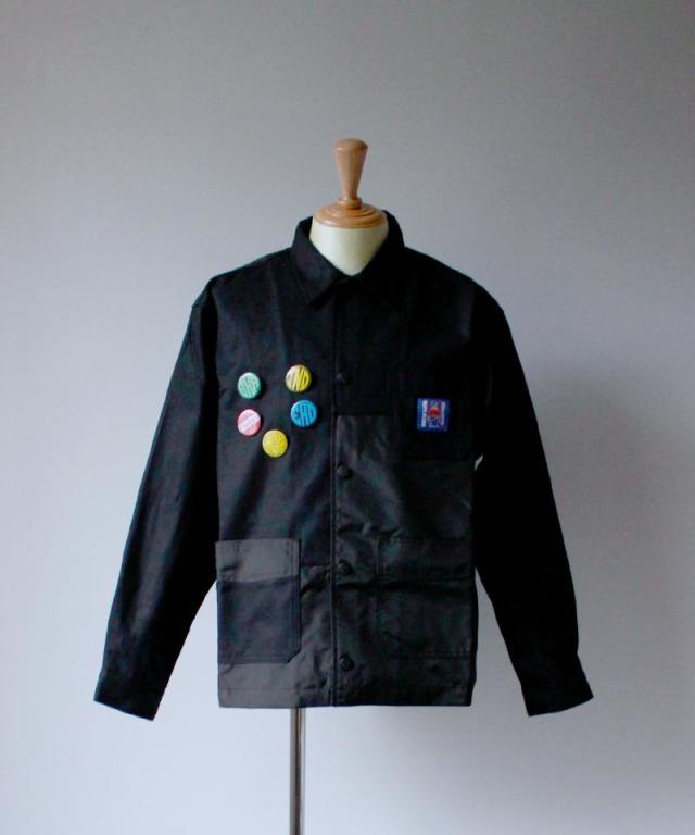 BRAIN-DEAD PANELED CHORE COAT black