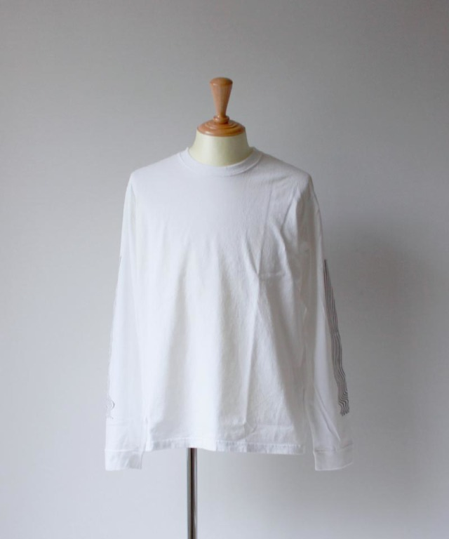 LAUGH&BE HAND POWER L/S TEE white