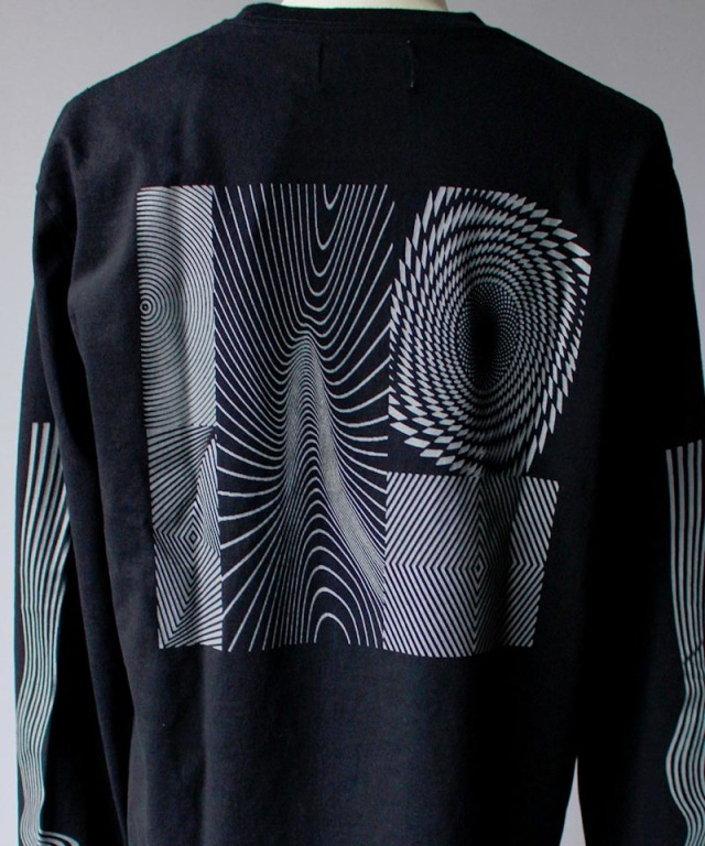 LAUGH&BE HAND POWER L/S TEE black