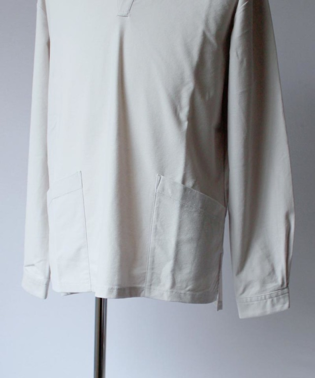 CURLY NOMADIC LS SMOCK SHIRTS lt.gray