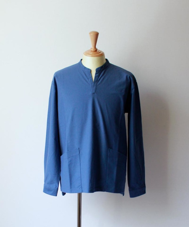 CURLY NOMADIC LS SMOCK SHIRTS blue