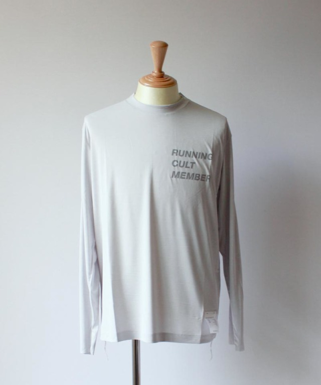 SATISFY LIGHT LONG TEE light grey