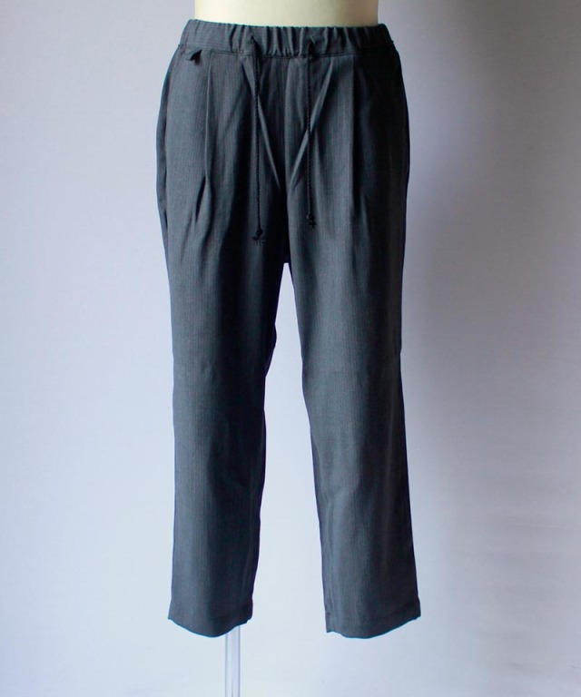 HEALTH EASY PANTS #2 charcoal stripe