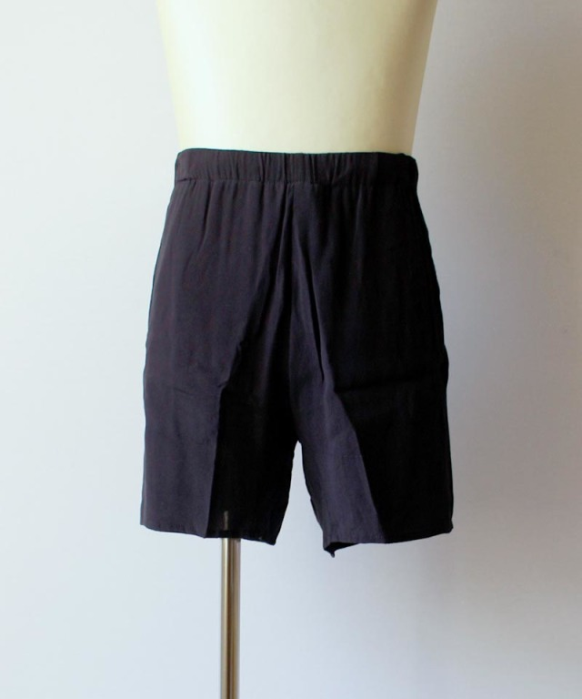 bukht HAND EMBROIDERY E/S SHORTS navy purple