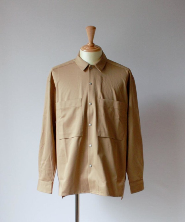 CURLY CLOUDY LS SHIRTS beige