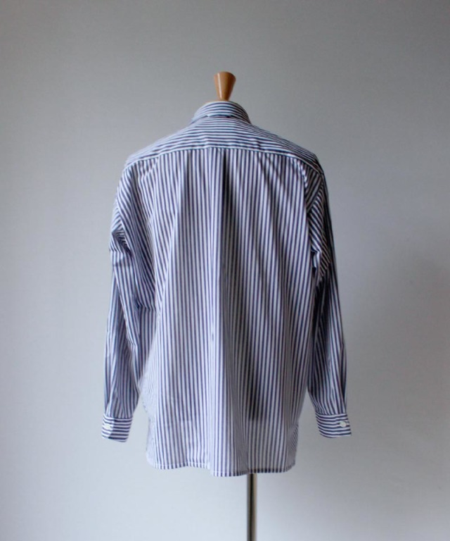 CURLY CLOUDY LS STRIPE SHIRTS navy