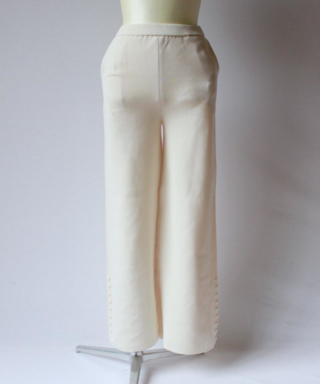 TAN SIDEBUTTONS TAPERED PT ivory