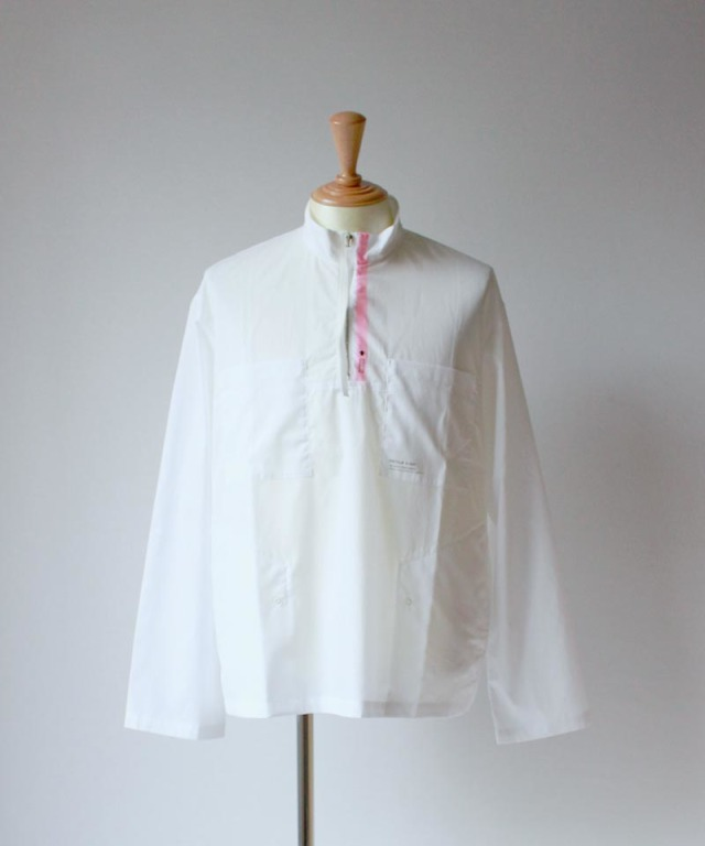 PORTVEL HALF ZIP PULLOVER SHIRT white