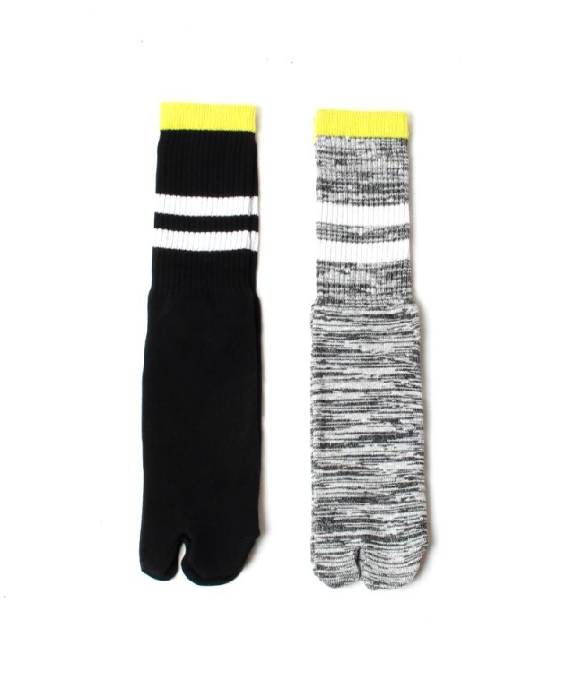 CURLY SPLIT TABI SOCKS gray