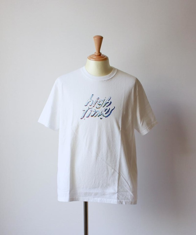 LAUGH&BE HIGH TIME S/S TEE white