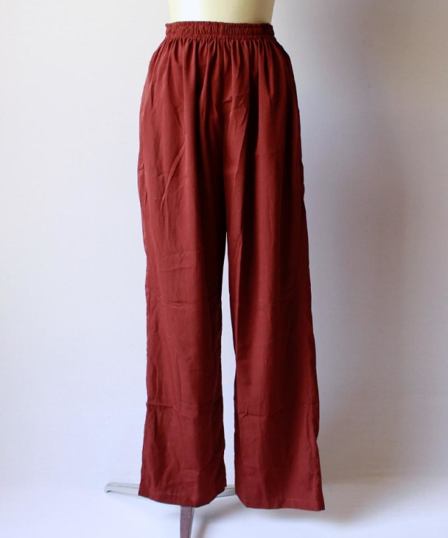 mmooii SILK PANTS brown