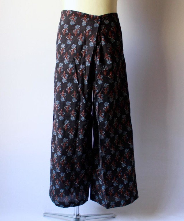 unsame INDIA RAP PANTS navy
