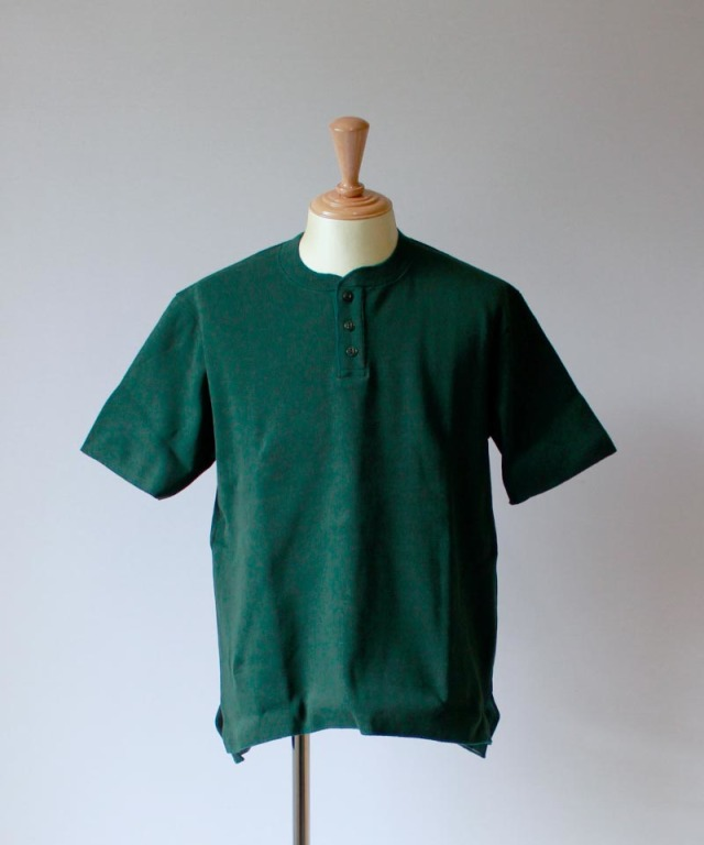 CURLY HENRY NECK green