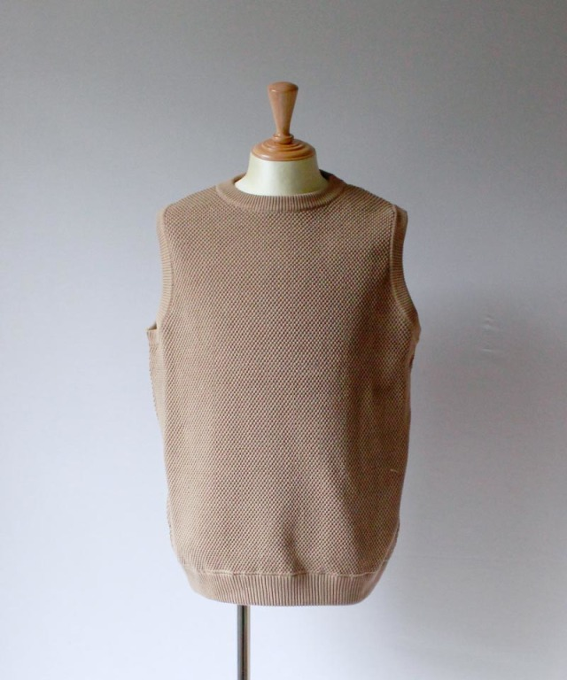 crepuscule MOSS STITCH VEST brown